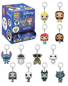Expand your Disney collection with these mystery Funko Pop keychains! Each bag has a chance to get your favourite characters, such as Stitch, Wall-E, Cheshire Cat, and many more! * Mystery bag - cannot guarantee a certain character Disney Pop, Disney Dream, Pop Vinyl Figures, Funko Pop Figures, Toy Art, Disney Keychain, Funko Pop Dolls, Funko Toys, Pop Figurine