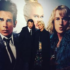 Who says fashion has to be serious? Creative Directors #mariagraziachiuri and #pierpaolopiccioli give their best #bluesteel last night in Rome at the #zoolander2 premiere. @zoolander by maisonvalentino