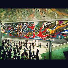 明日の神話 / Myth of Tomorrow in 渋谷区, 東京都 Myth of Tomorrow, a monumental piece of modern art by Okamoto Taro