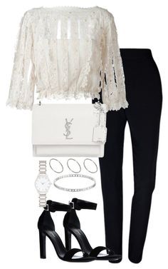 """Untitled #3017"" by theeuropeancloset on Polyvore featuring Plakinger, RED Valentino, Yves Saint Laurent, ASOS, Marc by Marc Jacobs and Forever New"
