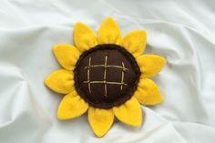 Portachiavi Girasole *Le Chips di Feltro* - Felt Kaychain Sunflower