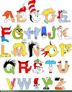 @Brittany Horton Oliver This would be a cute addition to your Dr Seuss room as a framed print :)