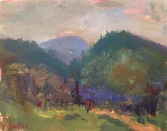 Impressionist Berkshire Landscape / Mount by RussPotakArtist