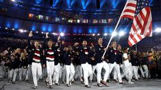 Team USA entering Olympic Stadium 2016