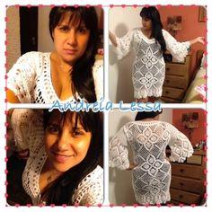 Andreia Lessa Tricô e Crochê: Meu vestido modelo Emma Clothing..... Com algumas modificações ....