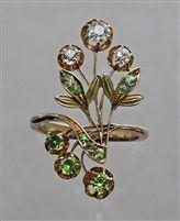 Art Nouveau Floral Ring