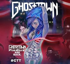 Ghost Town - These Allusions Are My Latest Addictions,Art By Imamachinist #GhostTownBand
