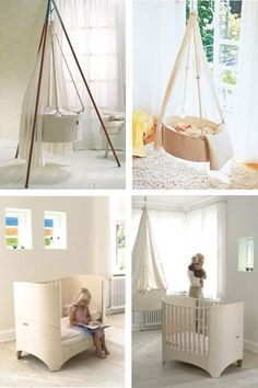 leander cradle and crib and bed