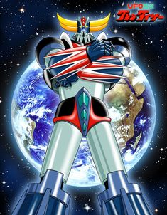 Ufo Robot Goldrake - Ufo Robot Grendizer - Anime / Manga robot Fanart by (Cristian Giuseppone) Vintage Robots, Retro Robot, Arte Robot, I Robot, Gundam, Ulysse 31, Dragon Ball Z, Battle Robots, Robot Cartoon