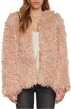 Main Image - Willow & Clay Shaggy Faux Fur Jacket