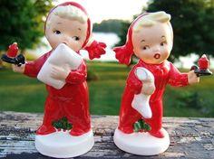 Look what I found on @eBay! http://r.ebay.com/n7UV0o Vintage NAPCO CHRISTMAS CHILDREN Salt Pepper Set 1959