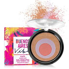 Look like you just returned from a sun-filled Buenos Aires vacation with this palette, featuring three hot shades for blushing (coral), highlighting (lavender) and bronzing that glide on for a flawless finish. 0.80 oz. net wt.   Zigzag a brush over the compact to mix all three shades together!
