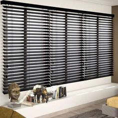 """Just found the perfect window treatments!! - Blinds.com. – Signature 2"""" Wood Blind #homedecor #blinds #wood-blinds"""