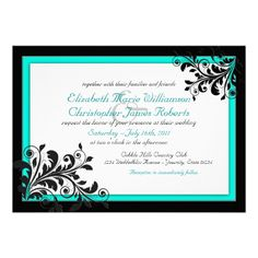 Elegant Turquoise Wedding Invitation  Pretty sure I've found my invites.