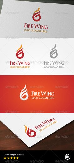 Fire Wing  Letter G Logo — Vector EPS #simple #flame • Available here → https://graphicriver.net/item/fire-wing-letter-g-logo/8183105?ref=pxcr