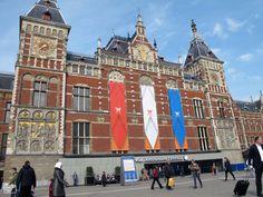 Amsterdam versiert gebouwen voor 30 april, Nufoto, Eric Triou