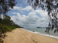 The beach of the hotel, Palm Cove, Cairns, Australia