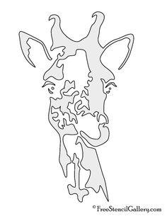 Jirafa Stencil