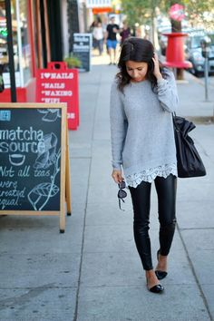 Were flirting with lower temps here in LA and that means sweater shopping! I know, were behind...