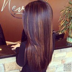 12. Dark #Chocolate Hair Color with Subtle #Highlights - 29 Hair… #Color