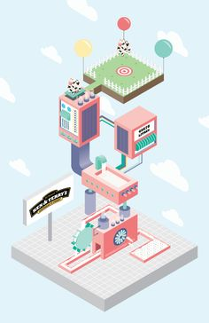 Isometric Ice Cream on Behance