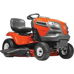 Husqvarna V-twin Automatic Riding Lawn Mower with Mulching Capability (Kit Sold Separately) at Lowe's. Husqvarna's riding lawn mowers offer premium performance with quality results. The lawn tractor's compact size makes it easy for you to maneuver and Best Lawn Tractor, Pedal Tractor, Lawn Mower Tractor, Best Riding Lawn Mower, Riding Mower, Yard Tractors, Steel Deck, Lawn Fertilizer, Husqvarna