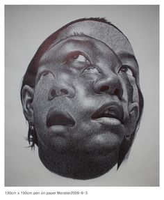 Artist: Seungyea Park, pen and Ink {female heads b+w double exposure women faces portrait drawing Arte Obscura, Alberto Giacometti, Watercolor Portraits, Poses, Illustrations, Gravure, Ferdinand, Dark Art, Amazing Art