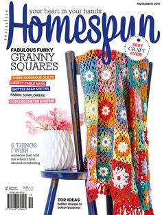 Australian Homespun magazine November 2016 issue on sale now - digital issues available from Zinio, www.zinio.com