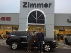 Here are JayJay and Mark Bohling with Sales Consultant Tony Fritsch and their new 2013 Jeep Grand Cherokee Laredo E!