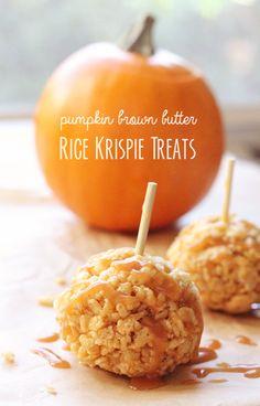 Pumpkin Brown Butter Rice Krispie Treats | With Lovely,
