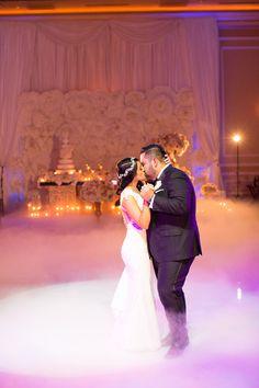 First Wedding Dance In Fog Idea