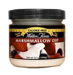 - Description - Nutrition Marshmallow Dip Indulge your love of marshmallow and still eat healthy. Switch to Walden Farms Calorie Free Marshmallow Dip. Made with natural vanilla flavor, but no calories