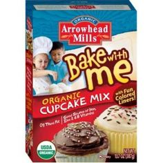 Arrowhead Mills Bake with Me Cupcake Mix, 13.7-Ounce Boxes (Pack of 3)