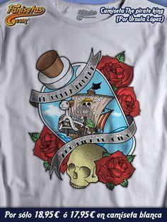 """The pirate king"" ¿Crees que #Luffy llegará a ser Rey de los Piratas? Feliz fin de semana! #Camisetas #Fanisetas #OnePiece #Manga #Anime http://www.fanisetas.com/camiseta-the-pirate-king-p-6097.html"