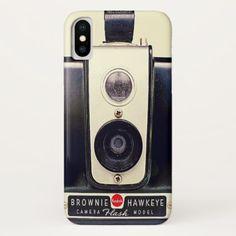 Vintage kodak brownie camera iPhone x case - photography gifts diy custom unique special