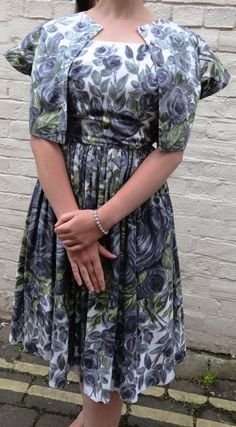 1950s Dress and Bolero  Grey and Olive by PepperLaneExclusives, $195.00