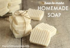 How to Make Homemade Hot Process Soap in a Crock Pot Tutorial on The Prairie Homestead at http://www.theprairiehomestead.com/2015/05/hot-process-soap-recipe.html
