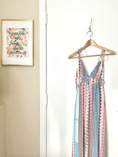 loving my little closet corner inspo today ... can't wait till this dress is back in stock for everyone!! Dream Big & Dress Fabulously!  www.nicoletoland.com