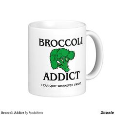 Broccoli Addict Classic White Coffee Mug