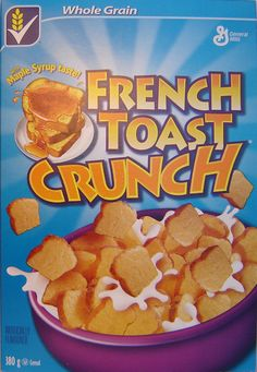French Toast Crunch cereal - They still sell it in Canada! French Toast Cereal, French Toast Crunch, 90s Food, Types Of Cereal, Crunch Cereal, General Mills, Breakfast Of Champions, Childhood Days, Good Ole