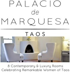 Palacio de Marquesa is a luxury #Taos #inn paying tribute to the lives and spirits of Georgia O'Keeffe, Dorothy Brett, Gene Kloss, Agnes Martin, Millicent Rogers, Mabel Dodge Luhan and Martha Reed. #HHandR