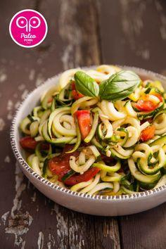 Caprese Zucchini Pasta Salad - Paleo Porn