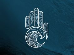 Repetition in curves and line patterns throughout logo, simple yet eye moving from wave upwards to fingers. Massage Room Design, Massage Therapy Rooms, Hand Logo, Logo Inspiration, Arabic Calligraphy Tattoo, Massage Logo, App Background, Logos, Yoga Logo