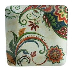 Prato quadrado Marrakech cerâmica creme 27cm