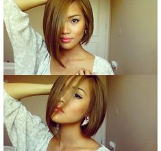 Asymmetrical Bob Hairstyles - Asymmetrical bob hairstyles are some of the most voguish hairstyles of the moment for short to medium hair length. Medium Hair Cuts, Short Hair Cuts, Medium Hair Styles, Short Hair Styles, Natural Hair Styles, Assymetrical Haircut, Asymmetrical Hairstyles, Hair Color And Cut, Haircut And Color