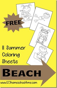 Free Summer Coloring Sheets for Kids