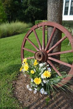 When the old wagon wheels outlive its primary function, it can, in essence, begin a new life and serve a completely new purpose.