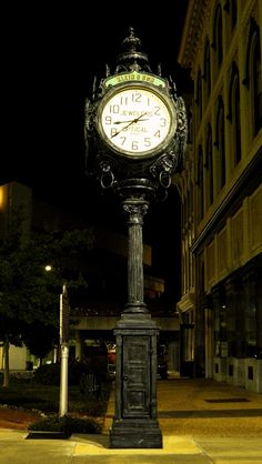 Awesome Old Clock in Mobile, Alabama. Go to www.YourTravelVideos.com or just click on photo for home videos and much more on sites like this.