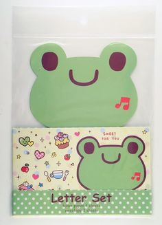 janetstore.com: kawaii stationery,letter sets, stickers, gifts and more - Chu Chu frog die-cut letter set 4714581720665