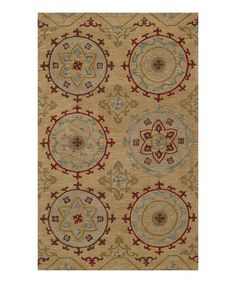 This Gold Star Wool Rug is perfect! #zulilyfinds